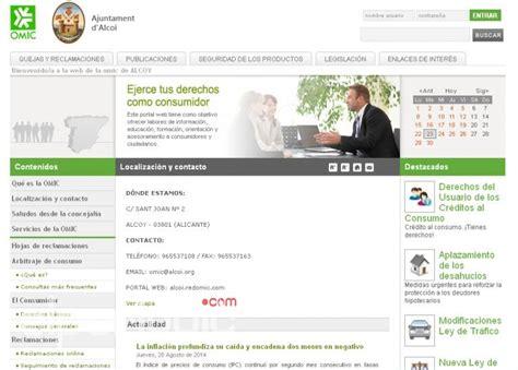 oficina del consumidor en alicante l oficina municipal d informaci 243 al consumidor renova la