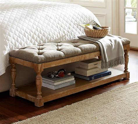 pottery barn upholstered bench 17 images about master bedrooms by pottery barn australia