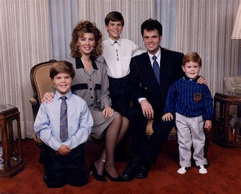 Of Osmond Family Singers Dies by Donny Debbie And Sons L To R Don Brandon In 1991