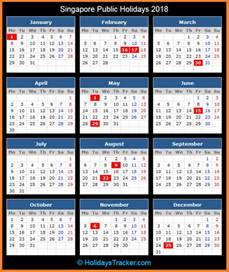 Calendar 2018 Singapore With Holidays Singapore Holidays 2018 Holidays Tracker
