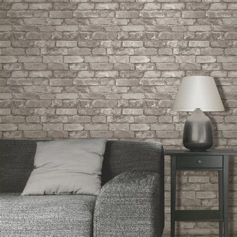 Bedroom Wall Effects Decor Rustic Brick Effect Wallpapers Feature Wall