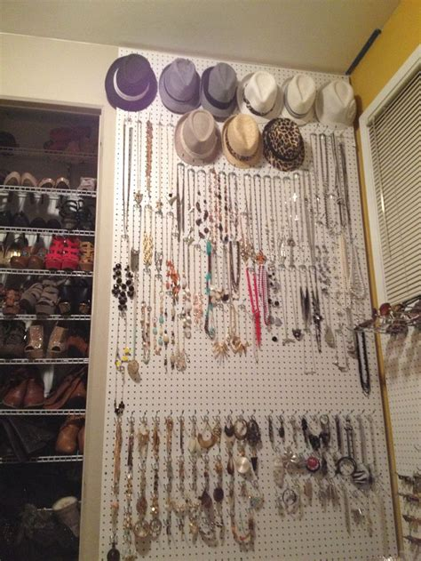 Pegboard Closet Organizer by Pegboard For Fedoras Jewelry For The Home