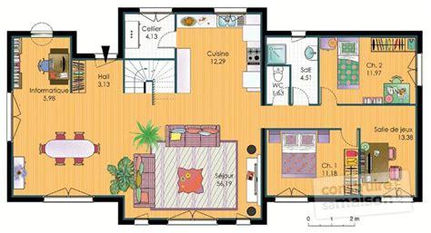 agréable Meuble Pour Plan De Travail #3: plan-maison-ecologique-meuble-rdc-17904.jpg