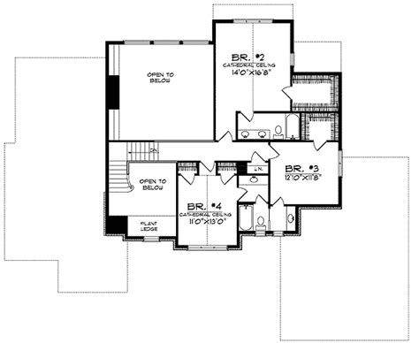 Brick Two Story Home Plan 89171ah 1st Floor Master Two Story House Plans With Library