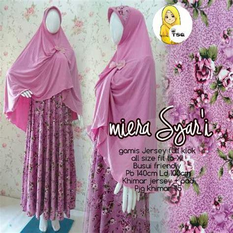 Syari Mira by Baju Gamis Jersey Mira Syari B004 Busana Muslimah Terbaru