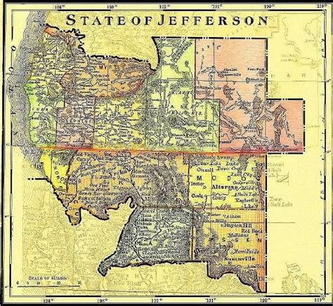 map of jefferson state of jefferson california map society