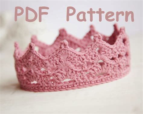 free crochet pattern for baby tiara lana creations my knitting work knit project and free