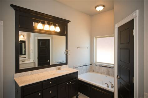 trim around mirrors bathroom black trim around mirror in master bathroom contemporary bathroom oklahoma city