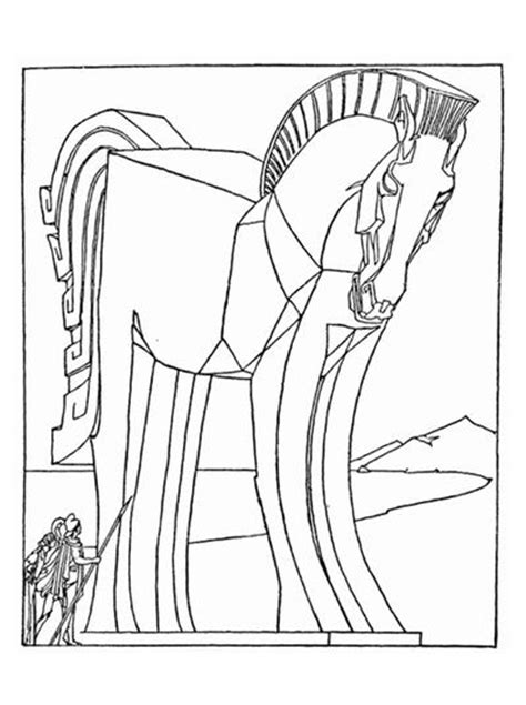 coloring pages of trojan horse trojan horse coloring page favecrafts com