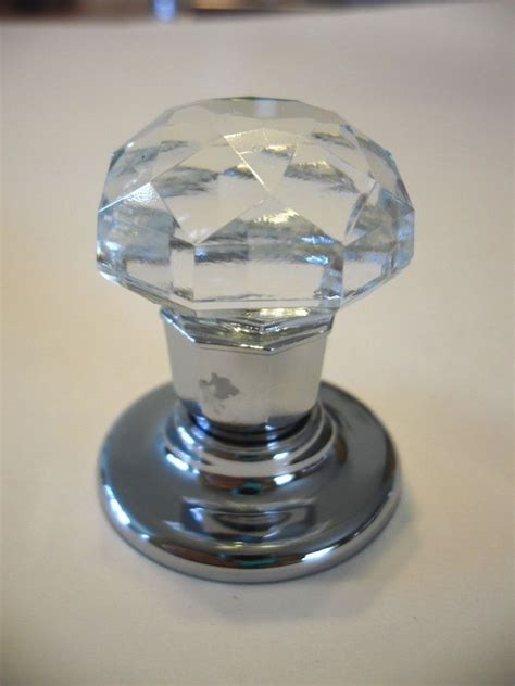 Cabinet Door Knobs Glass New Nip Clear Glass Knobs Drawer Pulls Cabinet Door Hutch