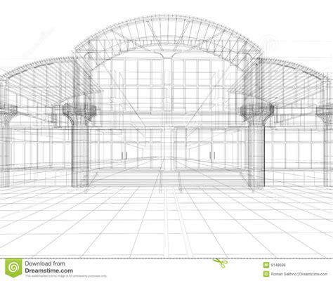 building sketch program sketch of office building royalty free stock photos