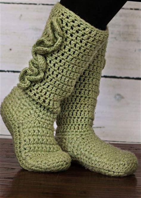 crochet boot slippers free patterns 10 diy free patterns for crochet slipper boots 101 crochet