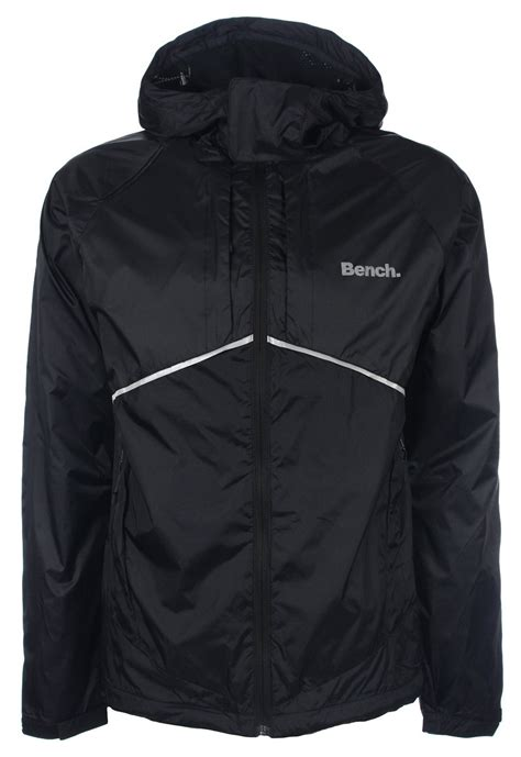 bench rain jacket bench mens black full zip hooded jacket rain coat