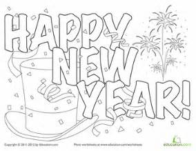 new year coloring page new year s worksheets and