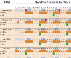 Rotating Schedule Template by Rotation Schedule For Work My Excel Templates