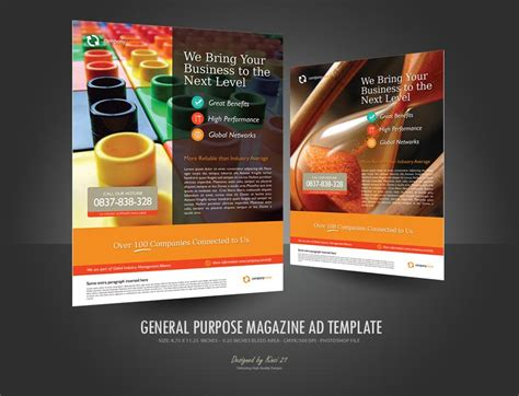Magazine Advertisements Templates Template Business Template Ads