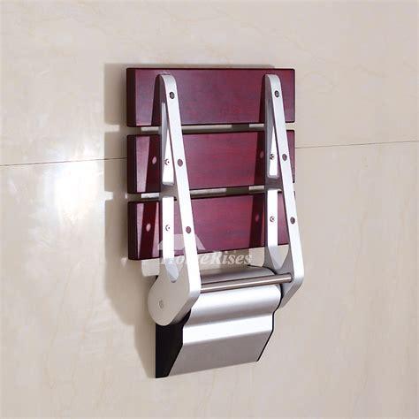 wall mounted foldable shower seat dpxe bamboo teak wood grating wall mounted folding