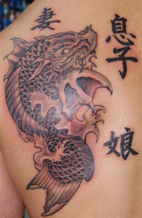 koi tattoo hd hd koi fish dragon gate tattoo