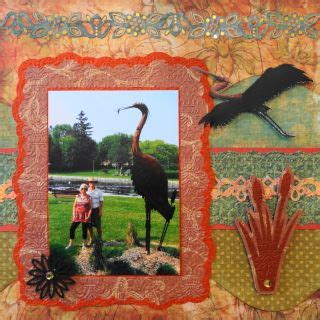 scrapbook layout bulrushes this is a travel scrapbook page with a cattail or bulrush