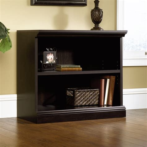 sauder 2 shelf bookcase sauder select estate black 2 shelf bookcase 412175