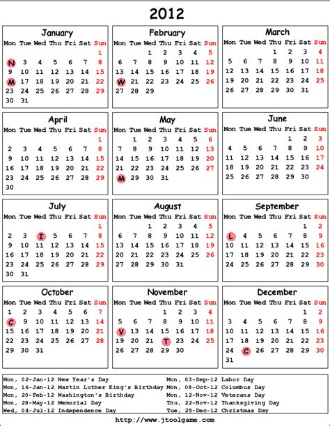 printable calendar us search results for usa 2012 calendar with holidays