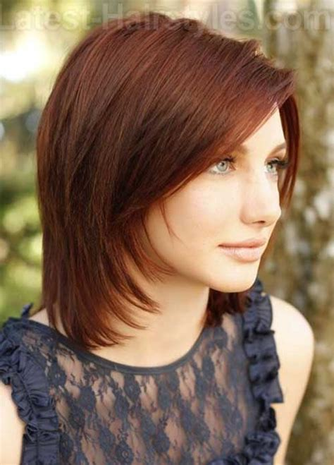 hairstyles for mid length red hair 25 popular layered medium haircuts hairstyles haircuts