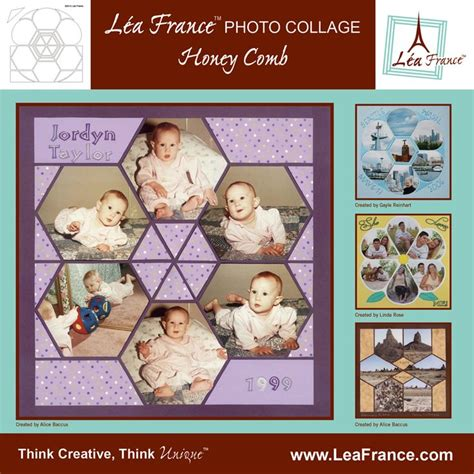scrapbook collage layout ideas 9 best images about lea france honeycomb stencil on
