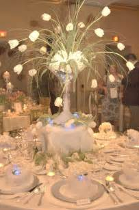arctic winter wedding theme wedding table decorations