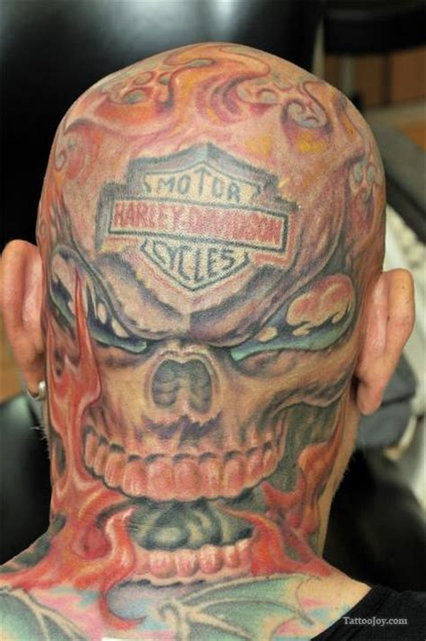 harley davidson skull tattoo designs images designs