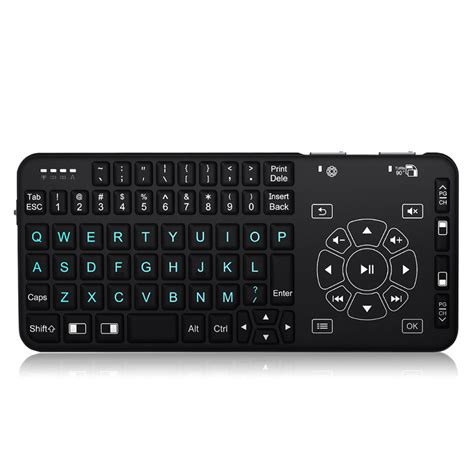 Keyboard Mini Multimedia D 003 3 rii mini i4 wireless handheld remote multimedia backlit touchpad keyboard for pc laptop android
