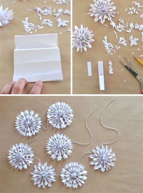 How To Make Small Paper Snowflakes - handmade paper snowflake garland 3d paper