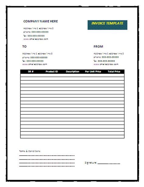 free business invoice template downloads invoice template new calendar template site