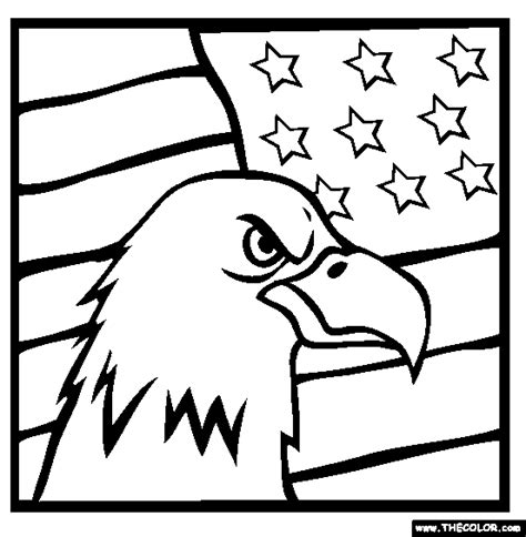 veterans day colors american bald eagle flag coloring page