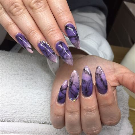 nail design marble effect stiletto nails with an ombr 233 gel polish effect with marble