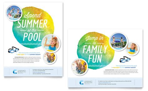 design poster using publisher community swimming pool poster template word publisher