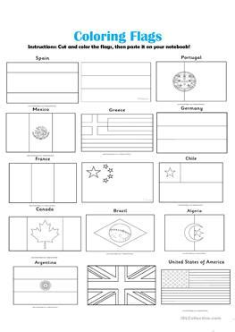 flags of the world exercise 61 free esl flags worksheets