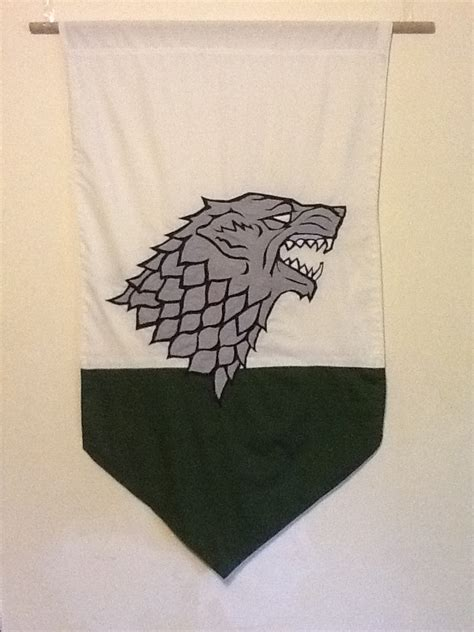 House Stark Banner by Items Similar To House Stark Banner Wall Hanging A Song