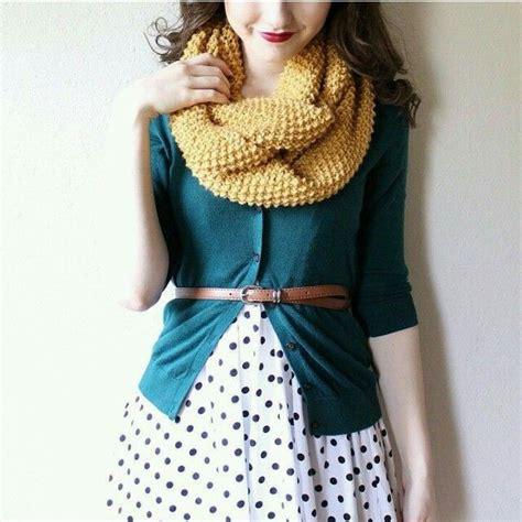 Polka Cardi polka dot skirt cardi and scarf so for fall for polka dots