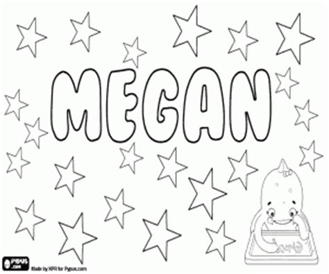 coloring pages of the name megan girl names with m coloring pages printable games