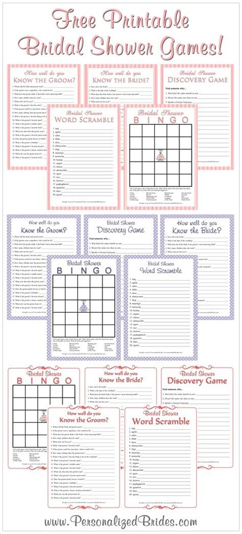 bridal shower discovery game free printable free printable bridal shower games wish upon a
