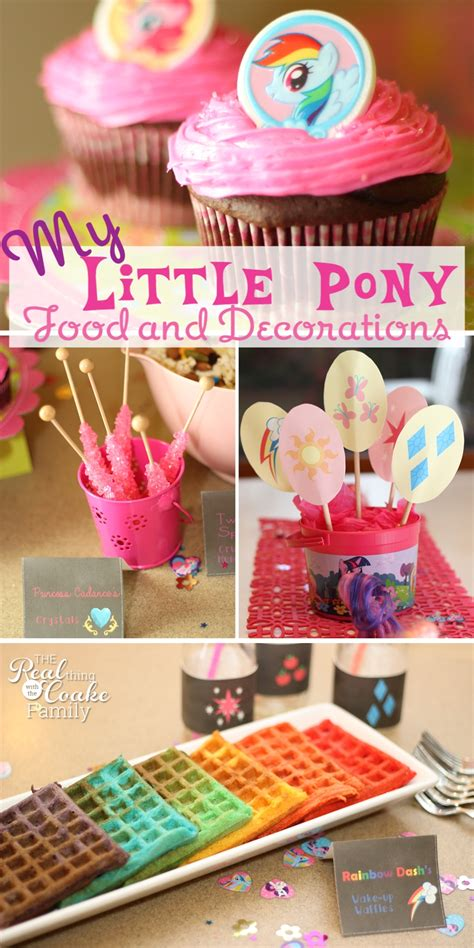pony parties make a great birthday treat for kids my little pony birthday party food and decorating ideas