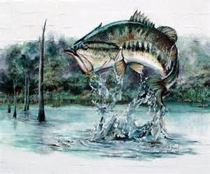 murals bass fishing