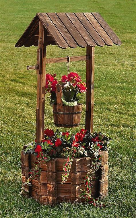 Small Wooden Wishing Well Planter by How To Build A Wishing Well Planter Woodworking Projects