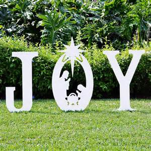 joy nativity yard sign christmas yard art
