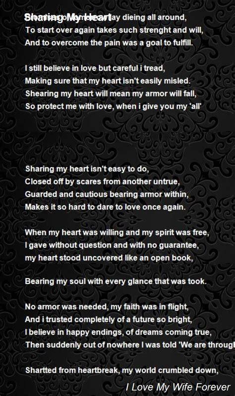 sharing  heart poem   love  wife  poem hunter