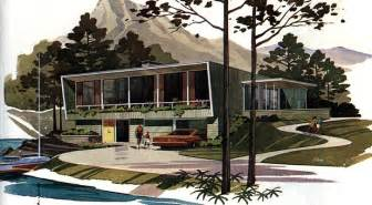 Mid Century Modern Home Designs Mid Century Modern Building Plans And Drawings Galore
