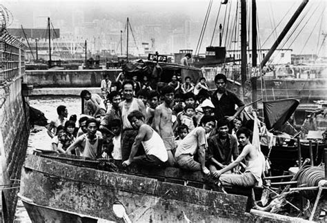 hong kong to vietnam boat ethnic chinese refugees from vietnam are confined in their