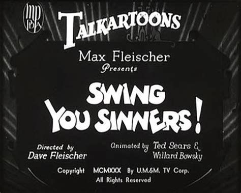 swing you sinners a wasted swing you sinners usa 1930