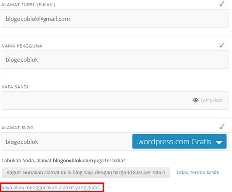 cara membuat blog gratis menggunakan wordpress cara membuat blog gratis di wordpress