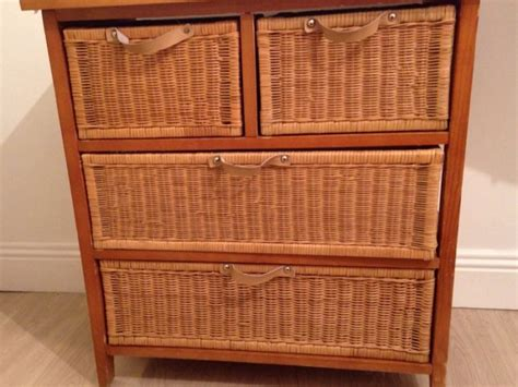 chest of drawer wicker baskets for sale in harold s cross